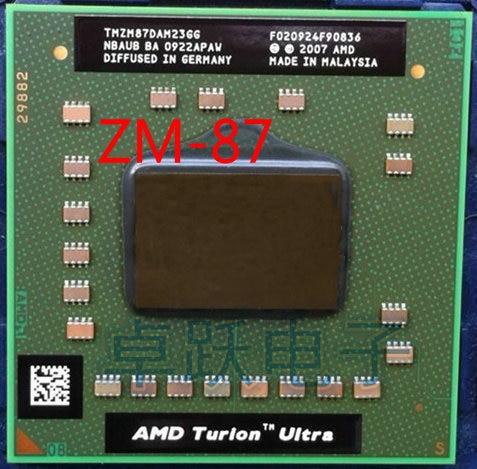 AMD المعالج cpu AMD Turion x2 الترا ZM-87 ZM87 ZM 87 TMZM87DAM23GG 2.4 جيجا هرتز المقبس S1 شحن مجاني