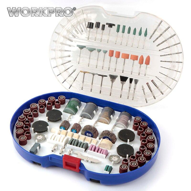 WORKPRO 276 STÜCKE Rotary Werkzeug-spitzen Set Drehwerkzeug Zubehör für Schleifen Polieren Schneiden Schleifwerkzeuge Kits