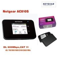 Лот из 10 шт. разблокирована NETGEAR AirCard AC810S 4 г LTE Cat11 мобильной точки доступа 600 Мбит WiFi маршрутизатор (плюс антенны), доставка DHL