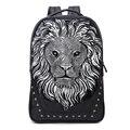 Fashion Brand Designer Men Women Casual Travel Backpacks 3D Animal Leather Backpack School Bag Vintage Business laptop backpack