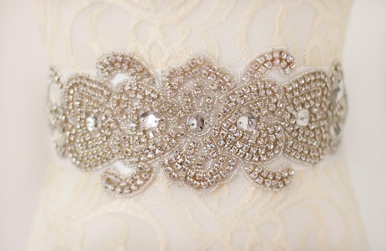 custom Sparkly Luxurious Crystal Rhinestone Czech Stone Formal Wedding Dress Belt New Arrival Handmade Stunning Bridal Sash WH30
