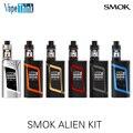 Original smok kit alienígena com aline 220 w caixa mod vape e 3 ml TFV8 Bebê Tanque Atomizador Starter kit Cigarro Eletrônico vaporizador