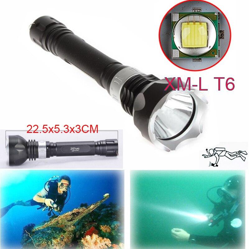 Underwater 2300Lumen 100m CREE XM L T6 LED Diving Flashlight Lamp Scuba Lamp Torch Waterproof
