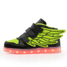 kids light up shoes with wing led slippers Led shoes infant for children boy&girl luminous sneakers Glowing glowing luminous sneakers feminino baskets with light sole usb charger children led slippers for boy