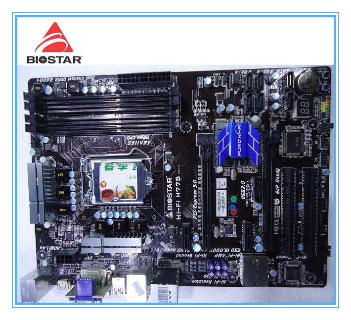 Biostar Оригинал материнская плата Hi-Fi H77S LGA 1155 DDR3 32 ГБ твердотельных integrated USB3.0 SATA3 Desktop плата