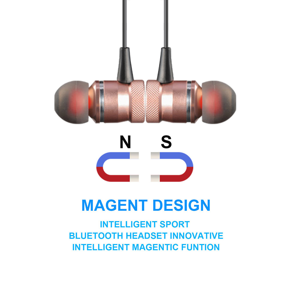 Metal Magnet Wireless Bluetooth In-Ear Stereo Sports Earphones phone air pods Sport headphone in ear Headphones with mic