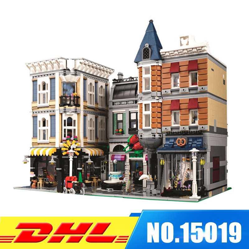 IN STOCK Lepin 15019 4002pcs MOC Creative Series The Assembly Square Set Building Blocks Bricks Toys Small piece block 10255 kemei838 intelligent lcd display li ion battery rechargeable hair clipper speed control hair trimmer with charge stand 110 240v