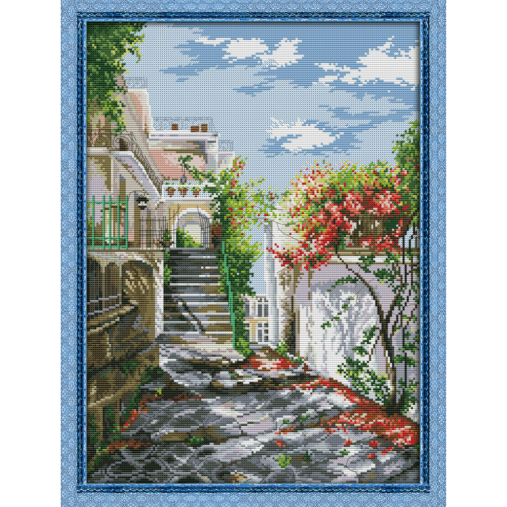 Joy Sunday Garden Villa 3 Chinese cross stitch kits Ecological cotton clear stamped printed 11CT DIY wedding decoration for home