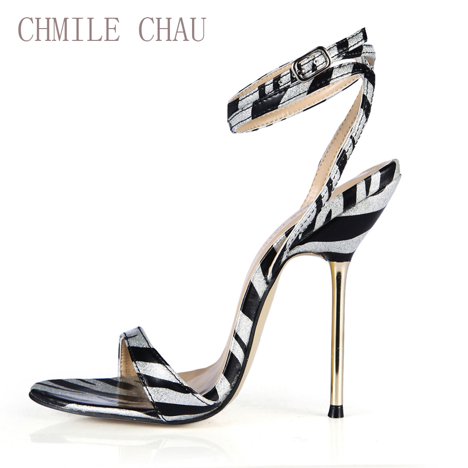 CHMILE CHAU Black Zebra Sexy Dress Party Shoe Women Stiletto Iron High Heels Ankle Strap Lady Sandals Zapatos Mujer 3845-i7CHMILE CHAU Black Zebra Sexy Dress Party Shoe Women Stiletto Iron High Heels Ankle Strap Lady Sandals Zapatos Mujer 3845-i7