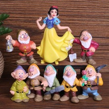 Disney Toys 8 Pcs/Set 5-10cm Snow White Princess And The Sev
