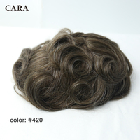 9x7 #420 мужской парик Швейцарский полный шнурок замена волос система накладка из фальшивых волос для мужчин бразильские 100% Remy человеческие во...