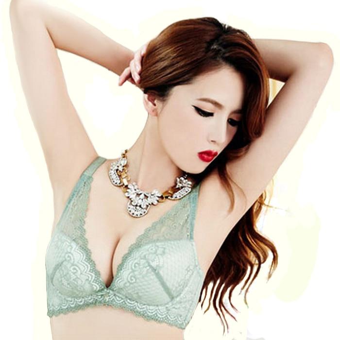 98cd16c115702 Sexy lace demi minimizer deep V plunge bra low cut quater cup brassiere for women  plus size bras 34c 32d 34d 36c 36d 38c 38d bra