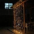 Led cortina de hadas de la secuencia de Iluminación Cuerdas 3 M x 3 M 110 v 220 v de Navidad de navidad de La Boda luz de la noche home garden party garland decor