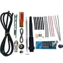 Estación de soldadura de hierro Digital LED, controlador de temperatura, Kits de bricolaje para MANGO HAKKO T12, puntas de interruptor de vibración