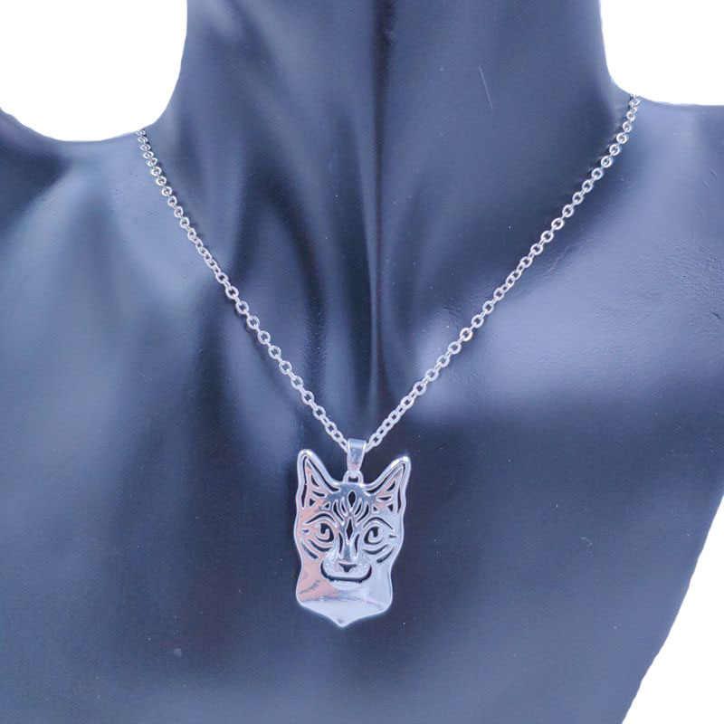 2019 חמוד סיאמי חתול שרשרת בעלי החיים תליון זהב כסף מצופה תכשיטי לנשים זכר נקבה בנות גבירותיי ילדים בני NT002