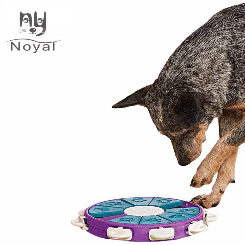 Chien jouets interactif chien jouet pour grands petits chiens mangeoire chat universel Pet jouets en plastique matière ronde forme fuite mangeoire