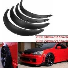 Preto universal 4 pçs carro guarda lama para fender flares roda flexível sobrancelha arcos de roda para benz para bmw para honda