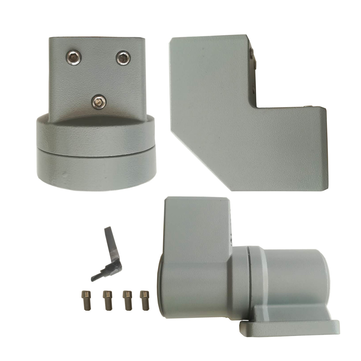 Dispaly support right angle corner fitting plus wall base plus display fixture full kit for fiber