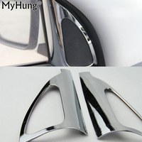For HYUNDAI Ix35 Interior Refit Pillar Triangle Circle Decorative Frame Exterior Interior ABS Chrome Trim Sticker 2pcs Per Set|set|set stickers|set frame -