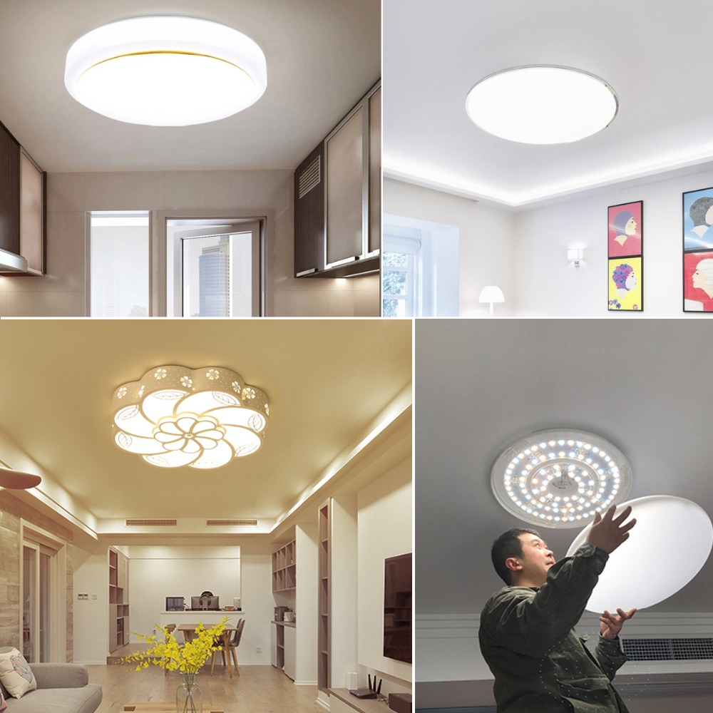 Home Colors Light Fixture Wiring Electrical Diagrams Changing Fixtures 3 24w 32w Led Ceiling Lights Module Surface Mounted Aluminum For