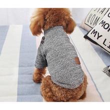TPFOCUS комбинезон для животных Одежда для домашних животных зимняя маленькая плюшевая собака одежда вязаный свитер шерстяная пряжа сделано дышащий цвет