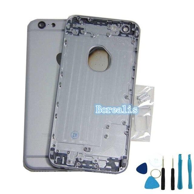 """Высокое качество полный Назад Крышка Батарейного Отсека Ближний Металлический Каркас Вернуться Корпус Для iphone 6 4.7 """"и 6 Плюс 5.5'' SIM Card Slot Бесплатные шипп"""