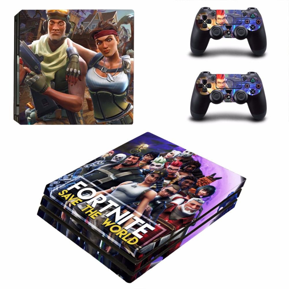 PS4 Pro Fortnite Skin Sticker Cover For Sony Playstation 4 Pro Console&Controllers