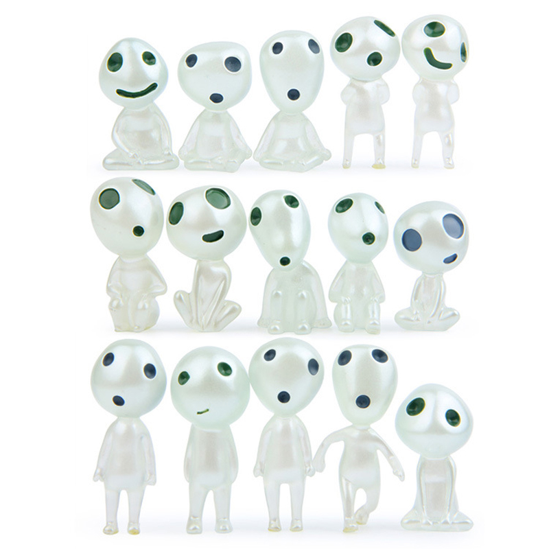 Search For Flights 15pcs/lot Diy Studio Ghibli Princess Mononoke Figures Noctilucence Kodama Tree Spirit Toys Resin Collection Model Toys Action & Toy Figures