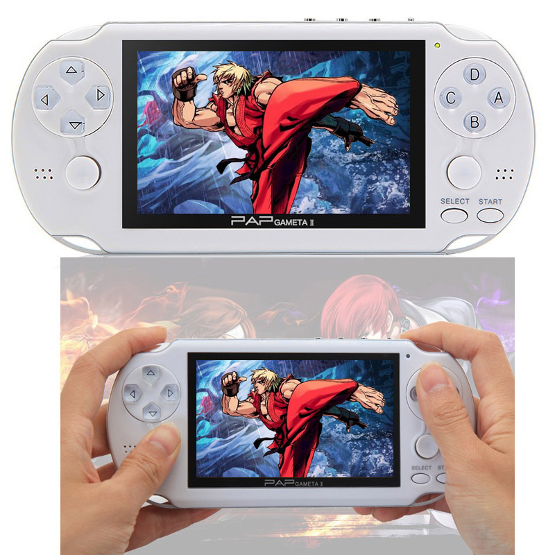 CoolBaby New 4.3 inch Large Screen PAP Gameta II 64 Bit Handheld Game Console Support Camera MP4 MP5 Video Game Players