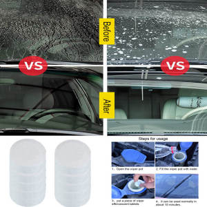 1-10pcs Auto Car Windshield Glass Wash Glass Window Cleaner Car Solid Wiper Fine Wiper Cleaning Concentrated Effervescent Tablet