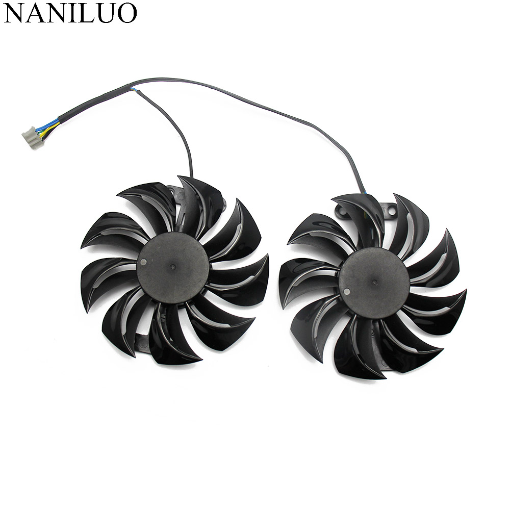 GA91B2U Power Color Red Devil RX 470 480 GPU Cooler Cooling Fan For Radeon Red Dragon AX RX580 Video Cards As Replacement