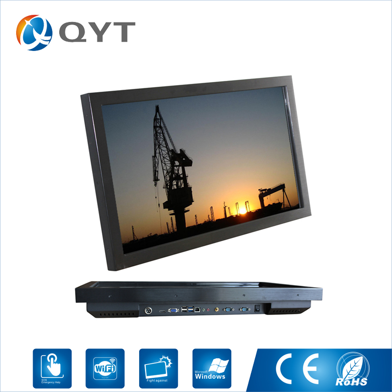 27 Inch Fanless Industrial Panel Pc Core i5 6200U 2.3GHz Capacitive Touch Screen Desktop 1920*1080 4GB DDR4 32G SSD all in one