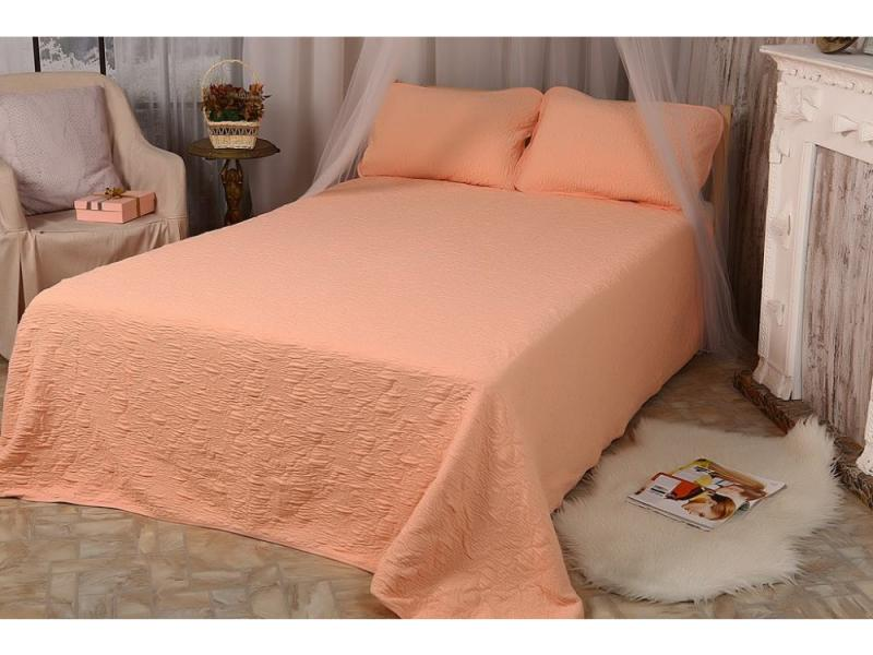 Bedspread knitted (Peach)