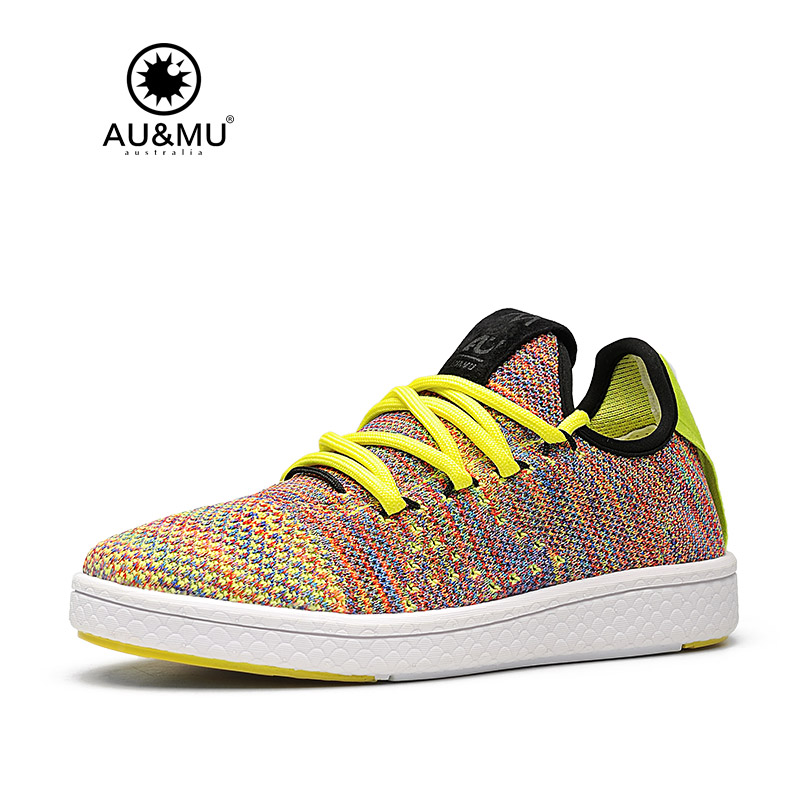 2018 AUMU Australia Multi Color knitted Upper Lace Up
