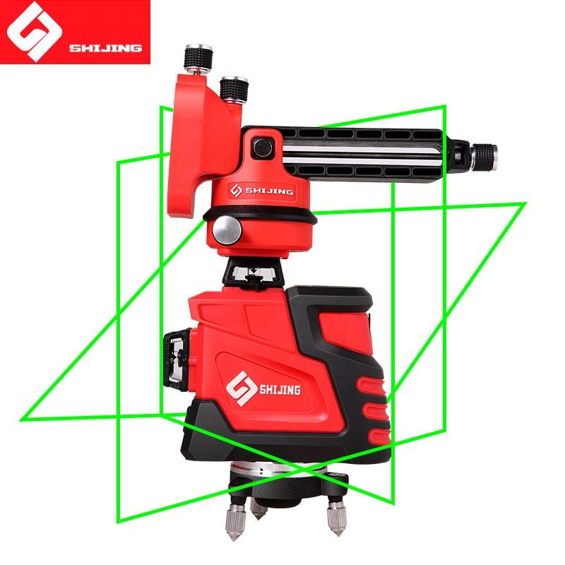 Laser Niveau 12 lignes 3D Auto-Nivellement 360 Horizontal Et Vertical Super Puissant niveau Laser vert Faisceau SHIJING laser levier