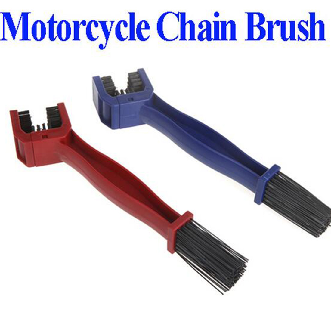 BU-Bauty Cycling Motorcycle Chain Clean Brush Gear Grunge Brush Cleaner Outdoor Cleaner Scrubber Tool Random Color