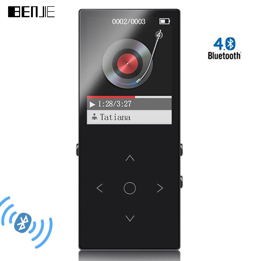 BENJIE 6 mm Thin Bluetooth MP3 Players With Arm Strap 8G Touch Screen Lossless HiFi Music Player with FM E-book Video Earphone (2)