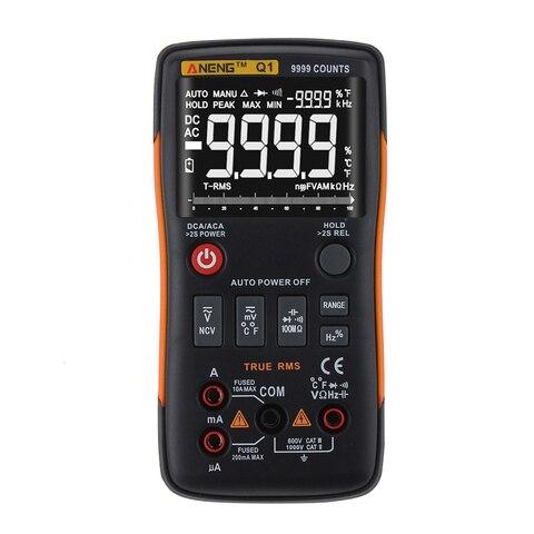 Botão 9999 Rm409b Aneng Q1 true Rms Multímetro Digital Automotive Electrical Testers Comprobador Dmm Tester Transistor