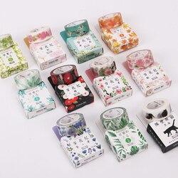 1 pc 11 estilos 15mm x 7m estações cor flor plantas washi fita adesiva diy planejador scrapbooking máscara fita