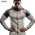 2016 Gymshark Clothing Bodybuilding Fitness Hoodies Men Sweatshirt Belt Patchwork Sporting Muscle Brothers Man Hoodies Sportwear