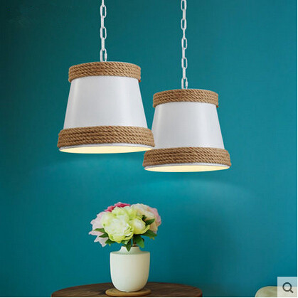 RH Vintage Loft Style Pendant Light Industrial Hemp Rope Droplight Hanglamp Fixtures For Home Lighting Bar Lamparas Colgantes america country led pendant light fixtures in style loft industrial lamp for bar balcony handlampen lamparas colgantes