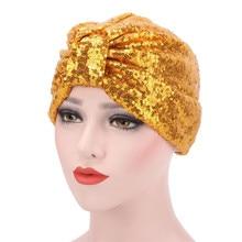 כובעי המוסלמי טורבן נשים למתוח צבע אחיד כהה בורדו שחור מודאלית רך הודי תחרה פאייטים שווי לנשים
