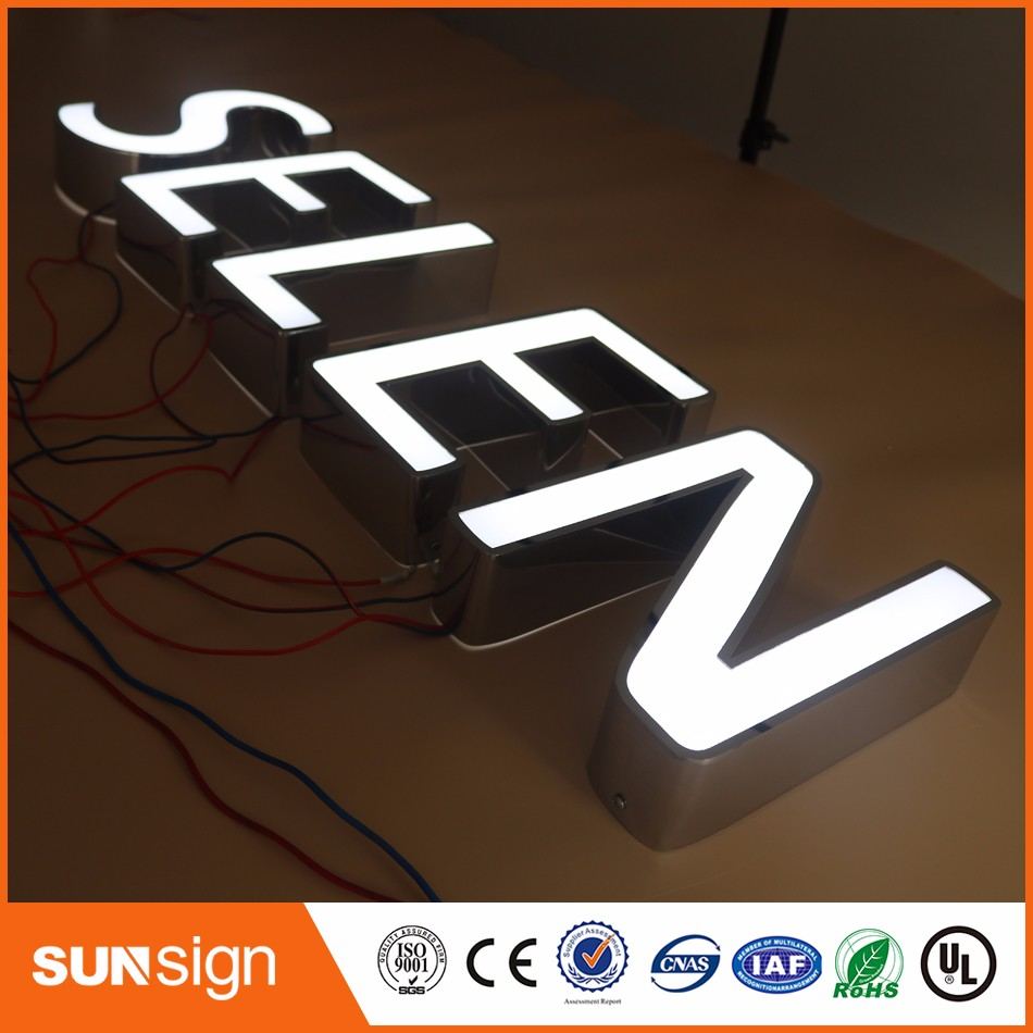 Aliexpress Factory Outlet Custom High Brightness Outdoor Acrylic Led Letter Light Signs
