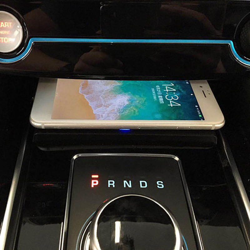 For Jaguar XF XE XFL F-PACE Car QI Wireless Charger Charging Case Center Console Phone Holder Charging Accessories For IPhone 8