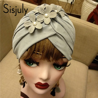 Sisjuly vintage hair accessories spring women classic dome brimless appliques floral fashion female headband 2018