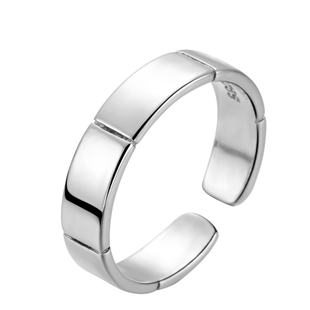 c9e7327b1 Chereda Simple Men Ring Unisex Personality Jewelry Adjustable Silver Color  Punk Rings Stripe Shape Attract Ring-in Rings from Jewelry & Accessories on  ...