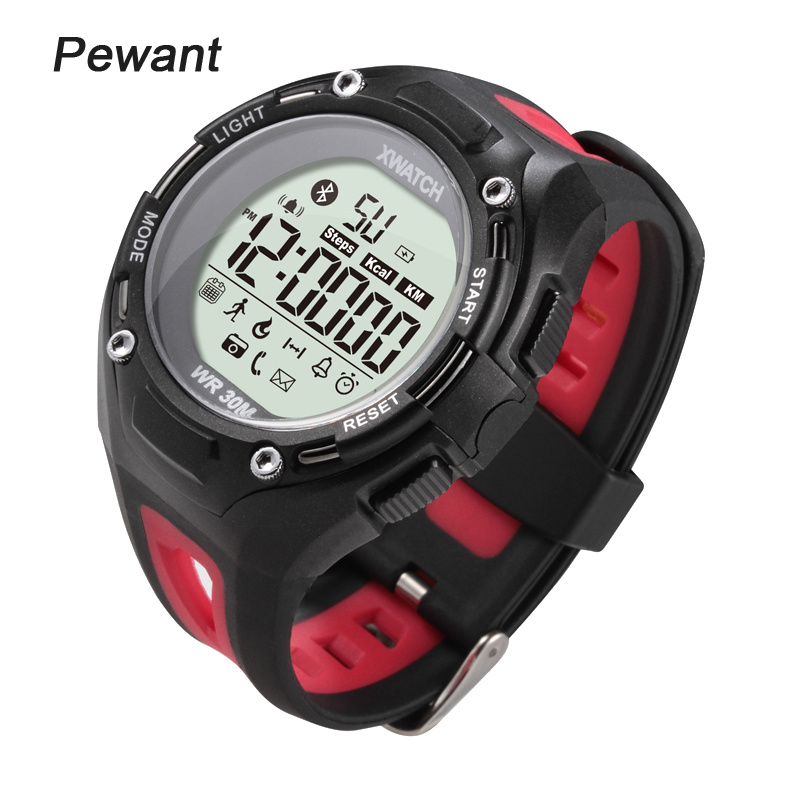 imágenes para Pewant ip68 impermeable profesional digital de smart watch reloj hombres mujeres sport bluetooth smartwatch para windows android ios teléfono