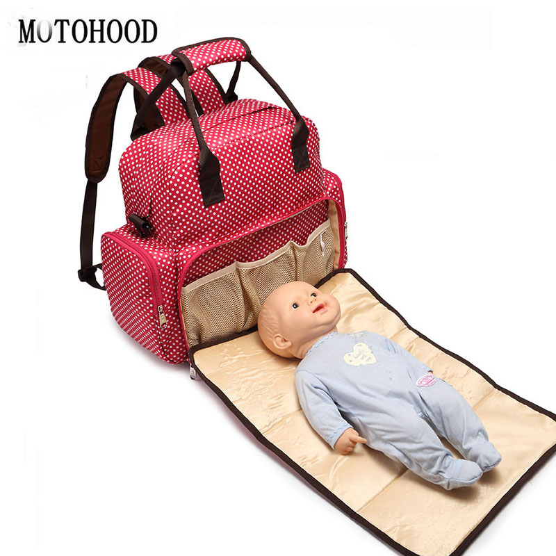 34*34*12cm Fashion Baby Diaper Bags Backpack Nappy Changing Bag For Mom Dot Women Messenger Tote Mother Maternity Bag Ladies