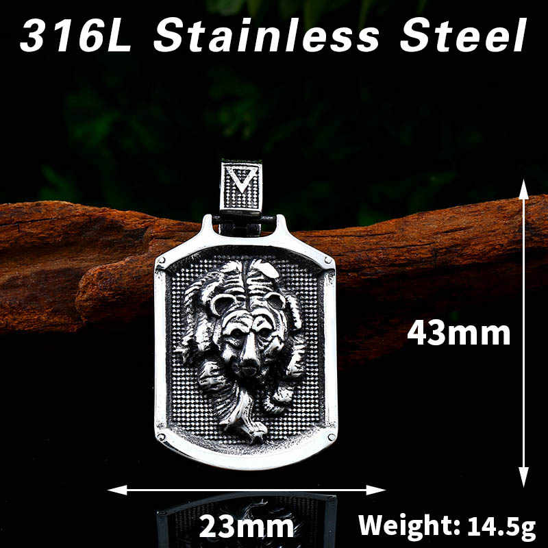 Apex Dynamics 316L Stainless Steel Odin Beruang Paw Kepala Jimat Hidung Viking Kalung Liontin Pria Hadiah Fashion Pagan Hewan Perhiasan LP413