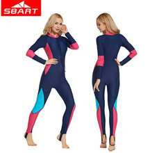 SBART  Lycra Wetsuit Women Long Sleeve Full Body Surfing Spearfishing Swimsuits Scuba Diving Wet Suit